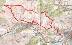 Feel the Burns 2014 Route Map