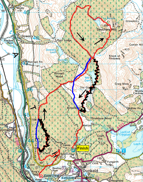 Deuchary Hill Canter Route