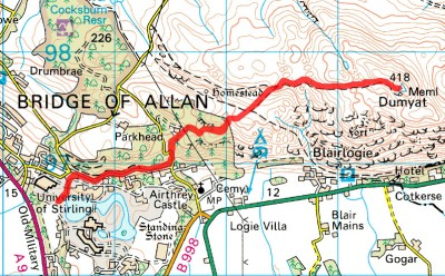 Dumyat Hill Race Route