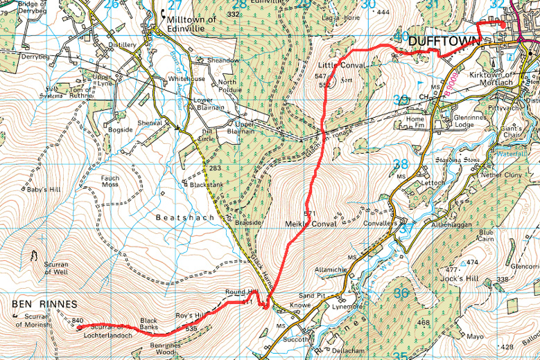 Ben Rinnes route