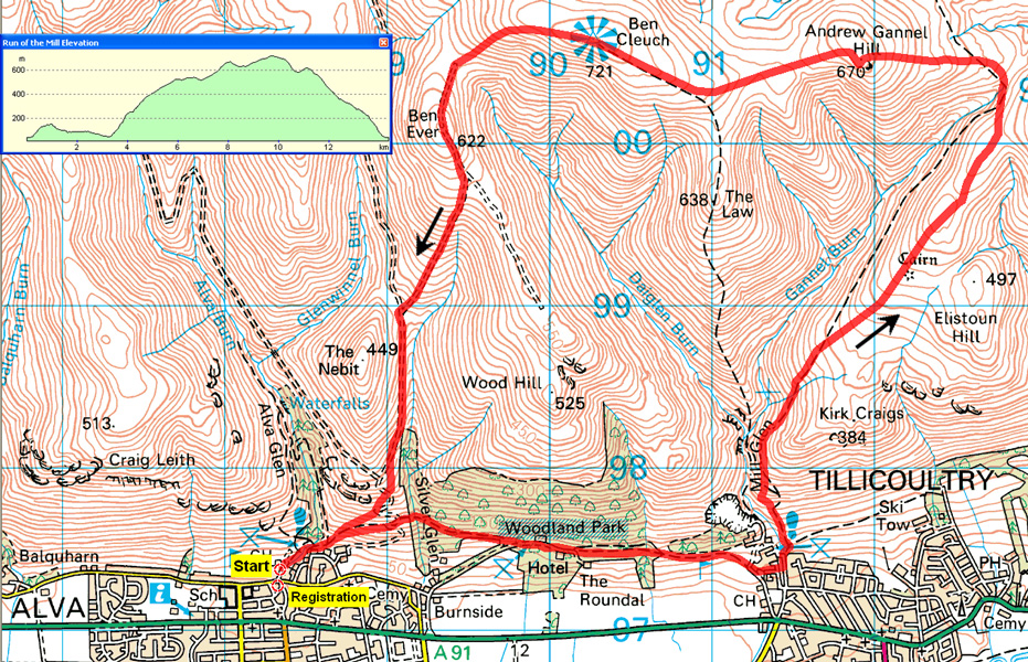 Run of the Mills route