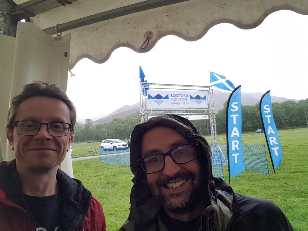 Rob and Tim - raining at registration